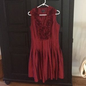 Jessica Howard burgundy dress.